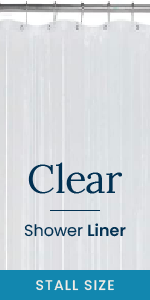 Clear Shower Liner (Stall Size)