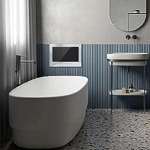 bathroom tv white