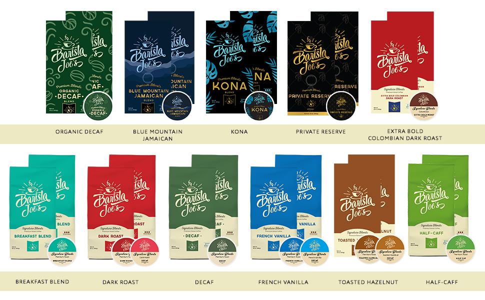 Barista Joe's Coffee flavors