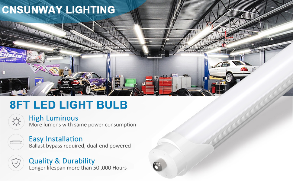8ft led bulbs f96t12