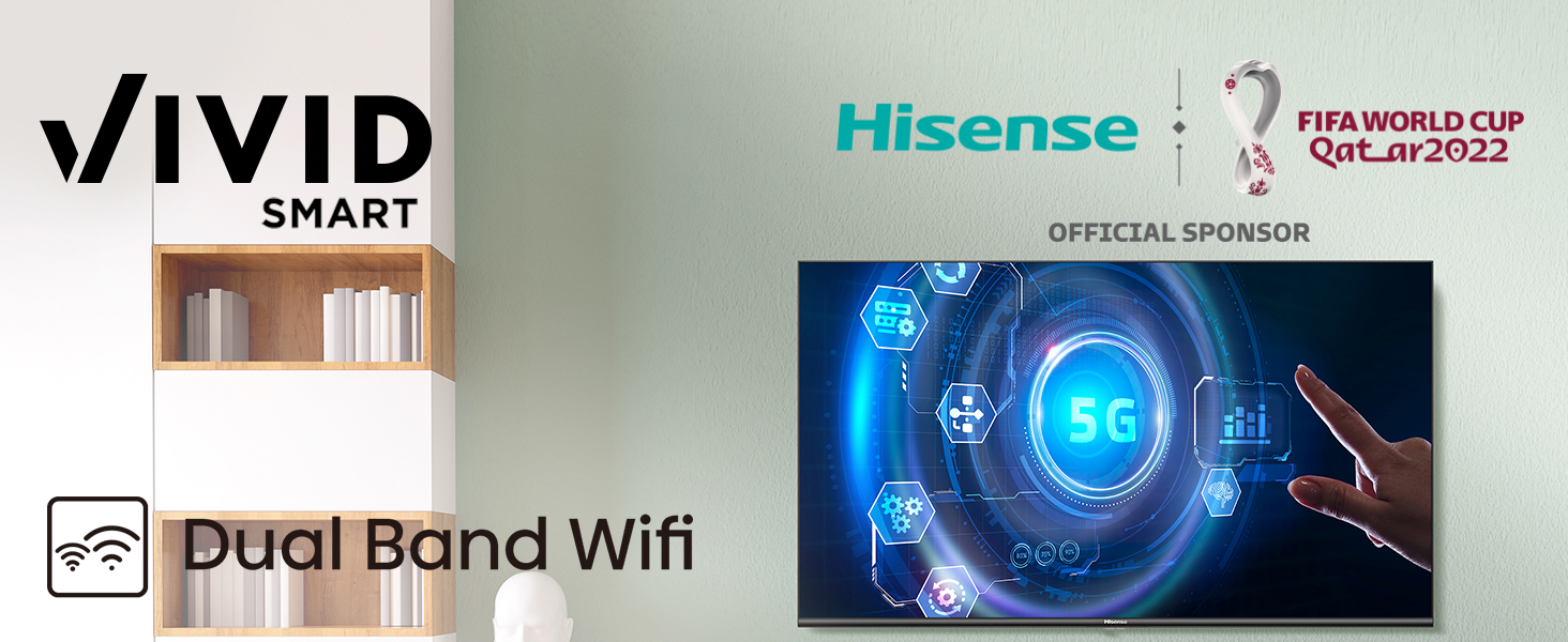 The Built-in WiFi supports 2.4G and 5G Band WiFi speeds for effortless streaming of 4K content