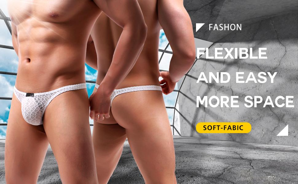 men thong underwear sexy g string lace see through exotic swimwear low rise t back panties bikini