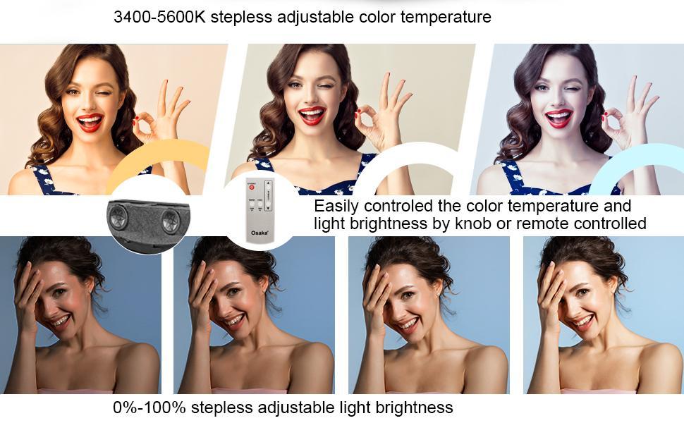 3400K - 5600K Adjustable Color Temperature