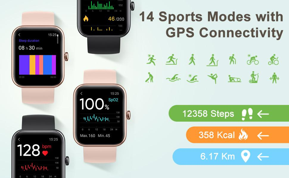 mart watch ladys waches fit digital androif running health reloj para mujer heart rate cardio watch