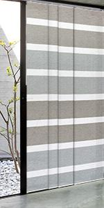 GoDear Design Grey Panel track blind, limestone