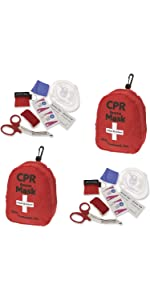 ASA Techmed 2-Pack CPR Rescue Mask, Pocket Resuscitator with One Way Valve