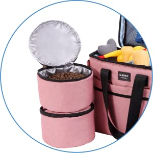 2X LINED FOOD/TREAT CONTAINERS