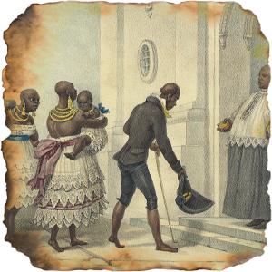 Negros se dirigem à igreja para um batismo