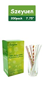 Paper Drinking Straws- Assorted color