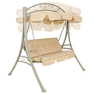 swing with canopy in different positions