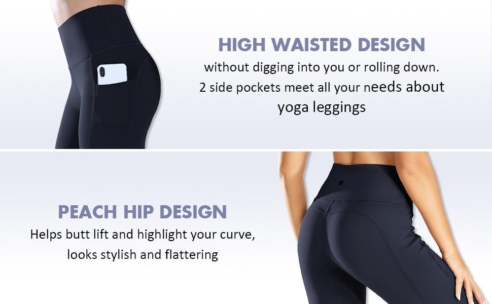 high waist design butt lift design