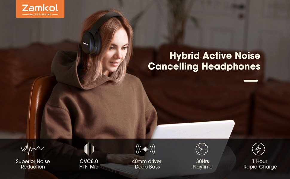Zamkol bluetooth headphones