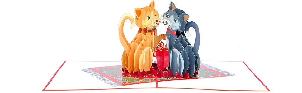 PopLife Love Kitties Pop Up 3D Pop Up Greeting Card