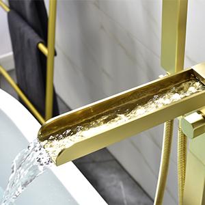 tub filler gold