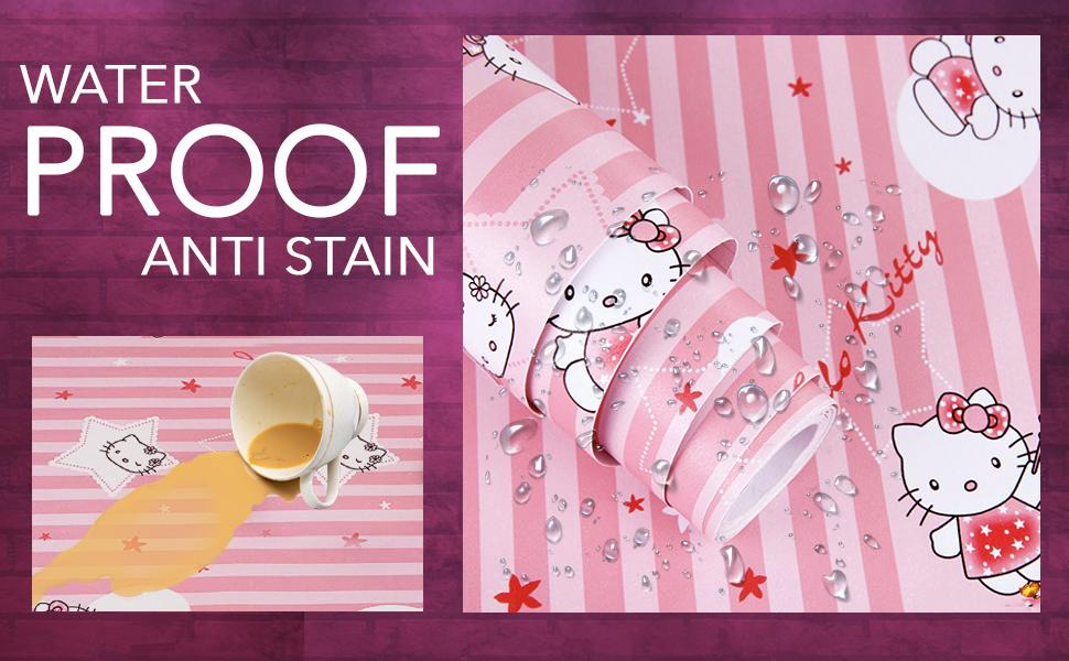 waterproof, anti-stain, oil proof, heat proof, baby room, moisture proof wall paper for wall
