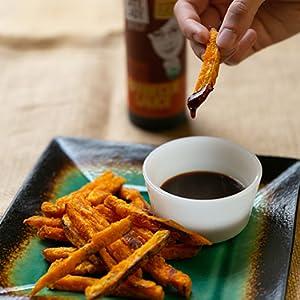 bbq sauce on sweet potato fries