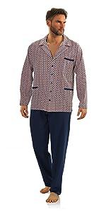pijama largo con botones para hombre