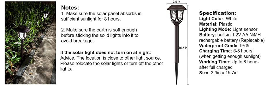 tips for solar walkway lights