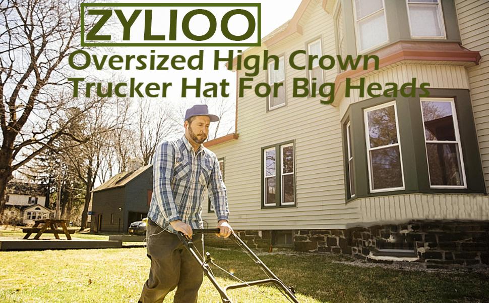 high crown trucker hat