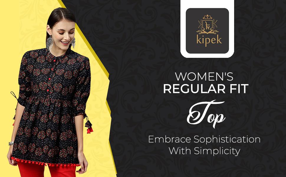 KIPEK Women's Regular Fit Top SPN-FOR1