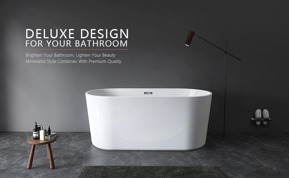 62 freestanding soaking deep bathtub