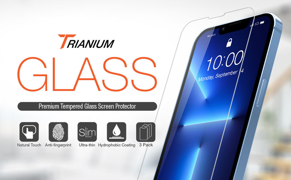 Trianium 3 pack screen protector for iphone 13 13 pro