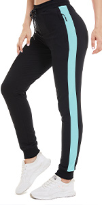 Women Running Pants Casual Cotton Workout Sweatpants Jogger Fitness Yoga Pants with Pockets