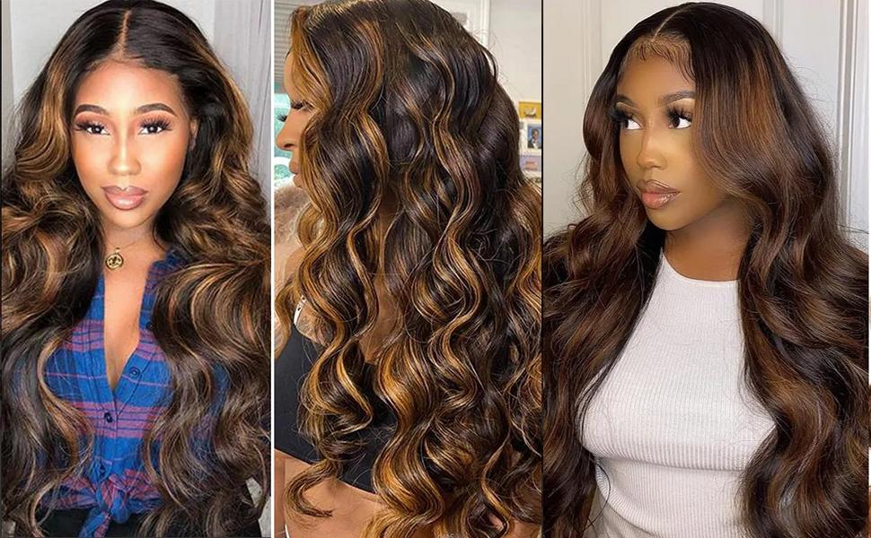 Body Wave Bundle Deal #FB30 Highlight Ombre Balayage virgin remy human hair extensitons piano color