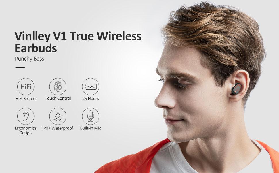 Bluetooth-Kopfhörer,kabellos Ohrhörer