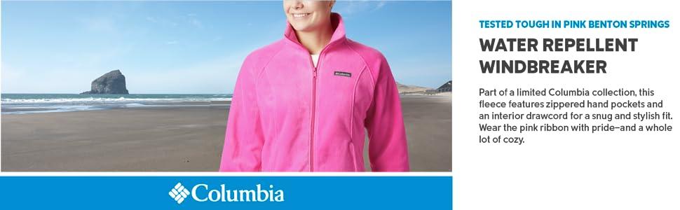 Columbia Womens Tested Tough in Pink Benton Springs Full Zip Jacket