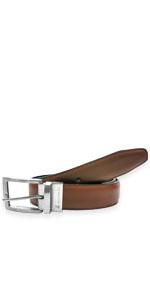 AZ Mens Reversible Dress Belt Classic - Black Brown Reversible Belt - Dress Duty Belt for Jeans