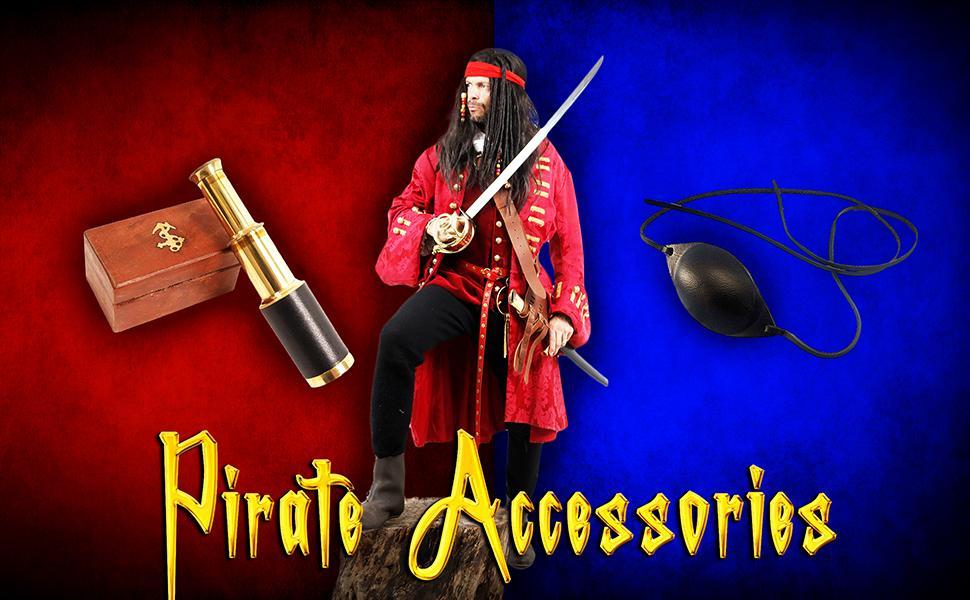 Mythrojan Black Leather Eye Patch Medieval Renaissance Fair LARP Pirate Cosplay