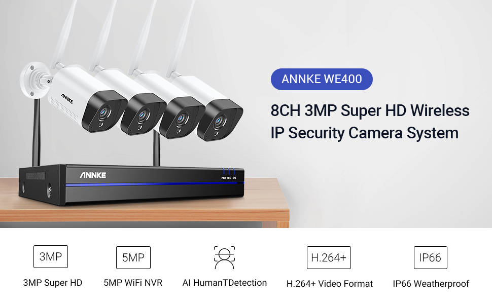 3MP wireless security camera system