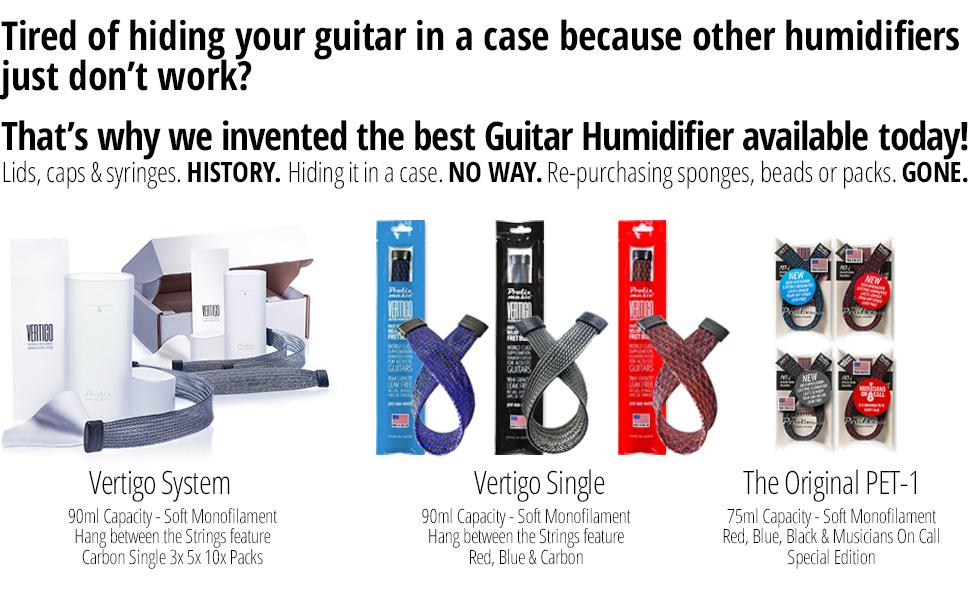 humidify guitar humidifier humidifiers instrument humidification acoustic Prolix Music PET-1