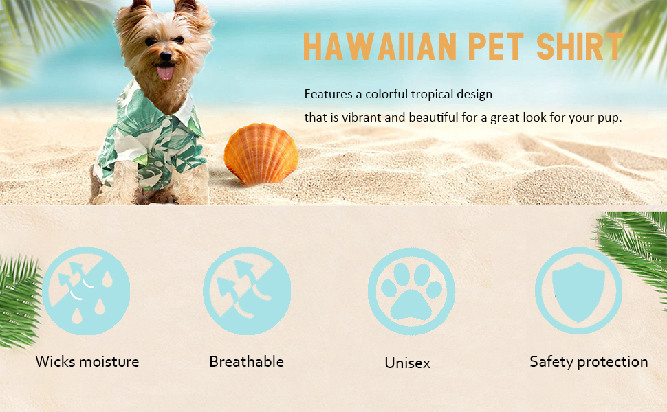Hawaiian pet shirt