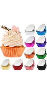 foil cupcake paper baking cups