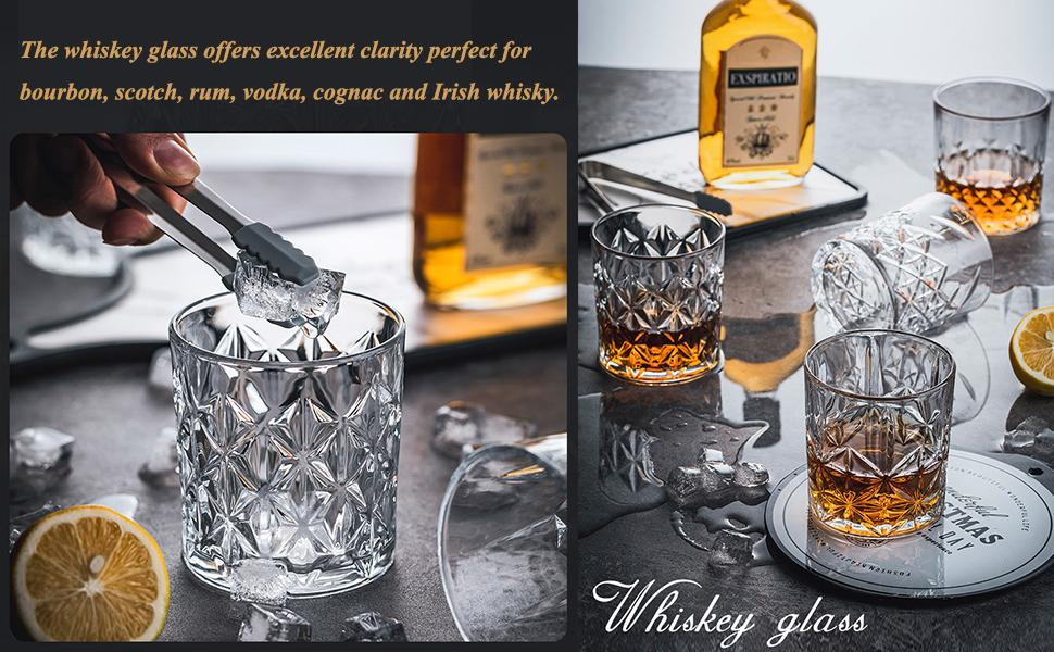11Oz Twisted Rocks Barware for Bourbon, Scotch, Whisky and Cocktail