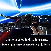 Limite di velocità di sollevamento La velocità massima può raggiungere i 32 km / h