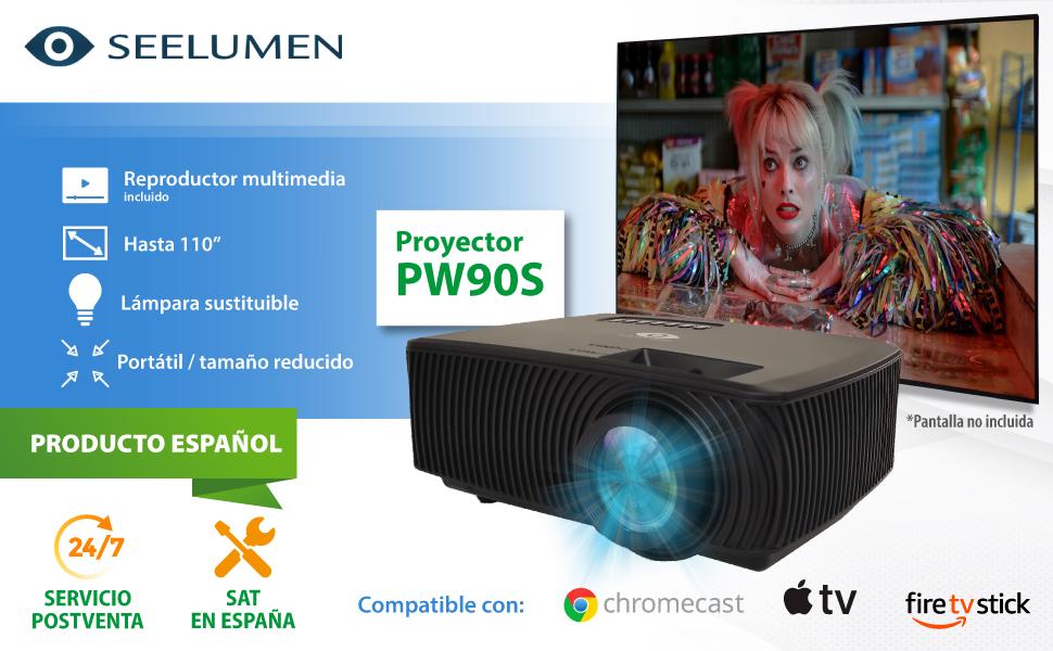 proyector portatil 4k, proyector 1080p nativo, proyector 4k