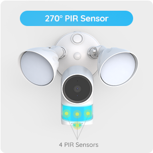 No Dead zones with 270° PIR Sensor and AI Technology