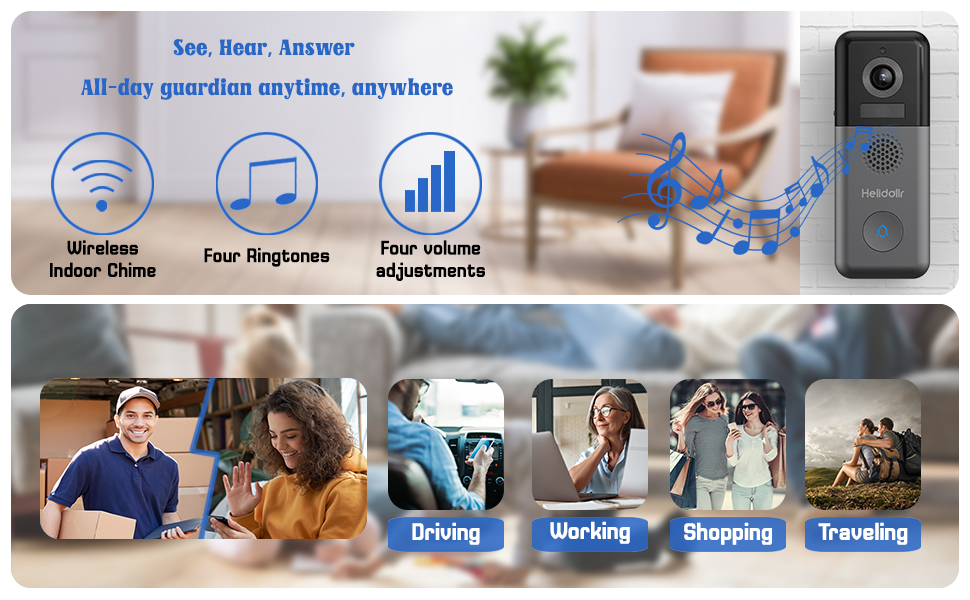 wireless video doorbell camera