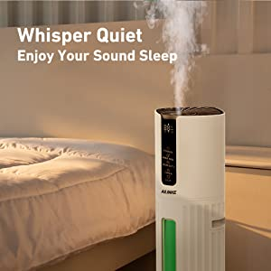 cool mist humidifiers for bedroom quiet
