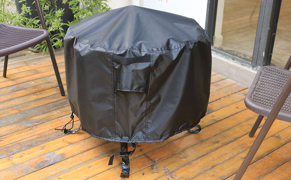 Pit Cover for Round Fire Pit 22 inch Heavy Duty Outdoor Fire Pit Cover