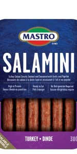 Mastro Salamini Turkey in a resealable package