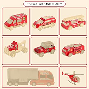 Die-cast Alloy  Metal Fire Fighting Vehicles