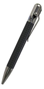 Carbon Fiber bolt action pen bastion ballpoint