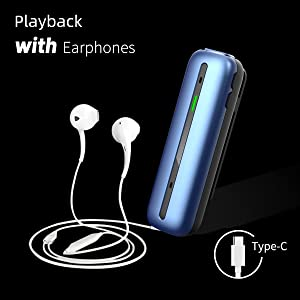 play back with earphones--audio recorder