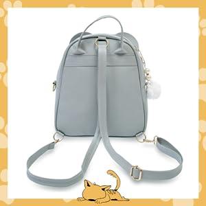 Mini Backpack Girls Stylish Cute Moca Small Daypack Polka Dot Student Shoulder Kids Kitty Rabbit