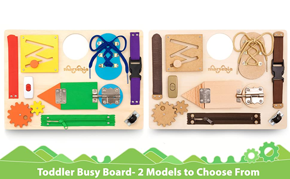 10 toddler acitivities Montessori busy board for toddlers activity board travel toy sensory