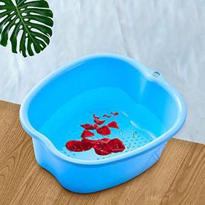 bassine bain de pied bleu